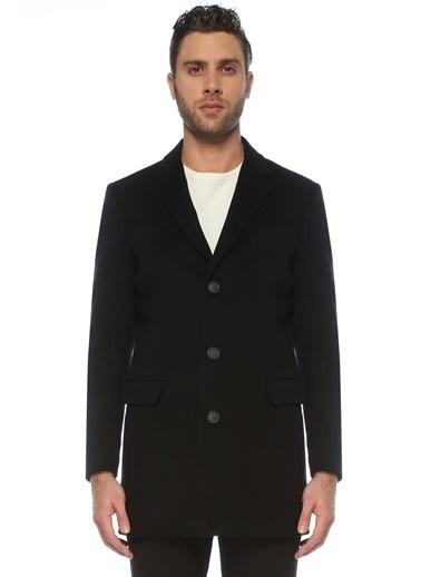 NetWork NetWork 1076098 Slim Fit Kelebek Yaka Erkek Yün Palto Siyah